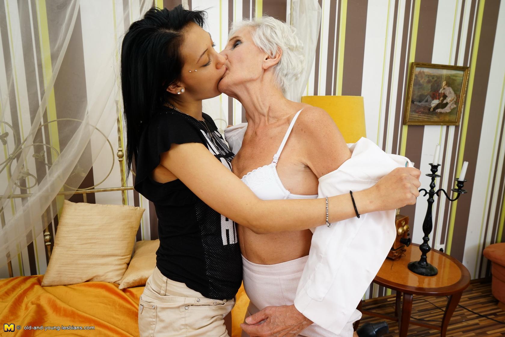 Lesbian Teen Making Out